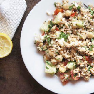 Healthy Greek Farro Salad Recipe