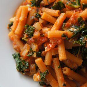 Healthy Kale Lentil Pasta
