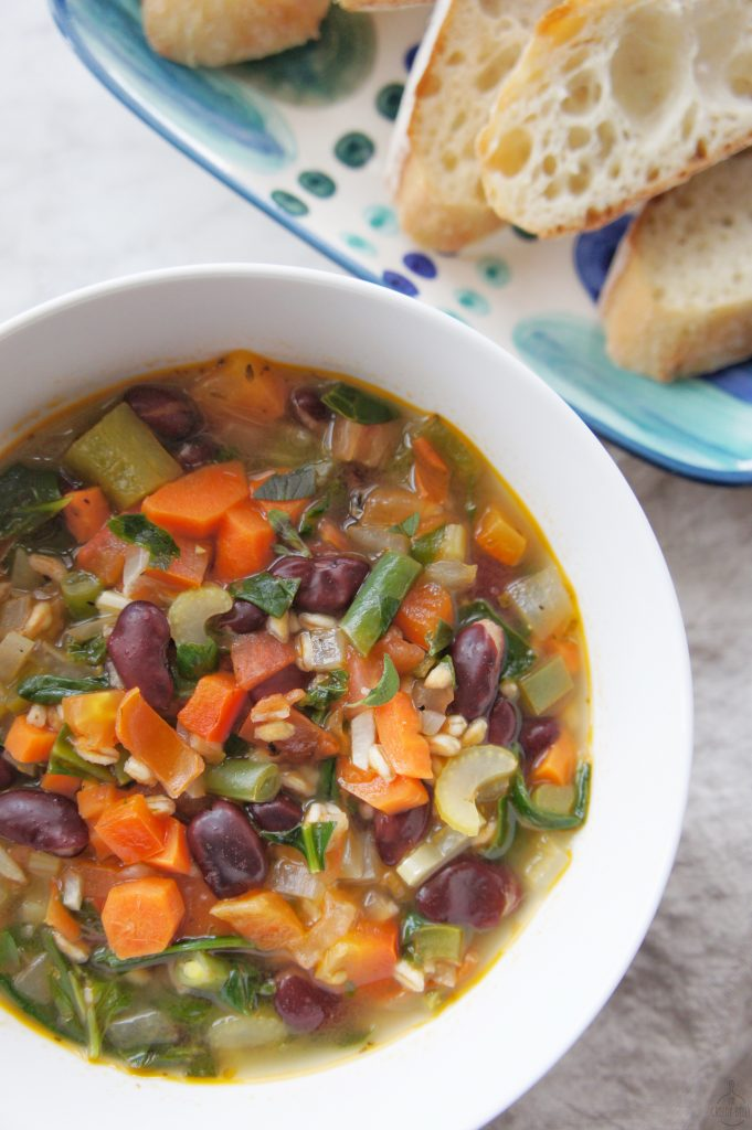 Gluten Free Hearty Minestrone soup