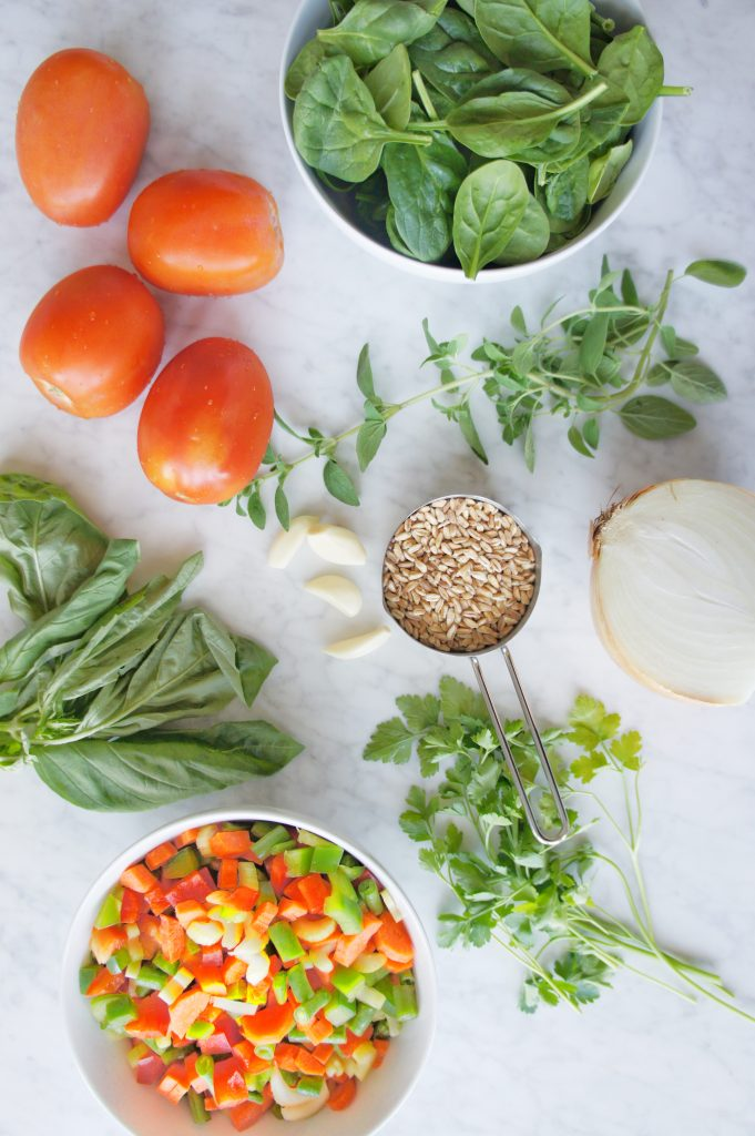 Gluten Free Minestrone ingredients