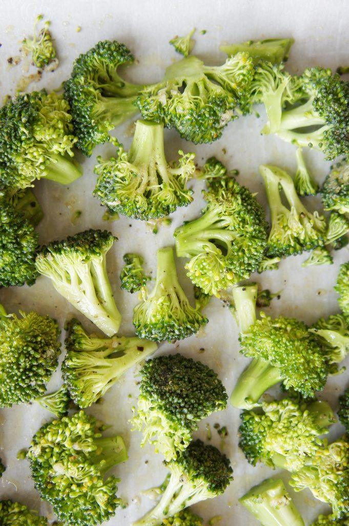 Roasted broccoli raw
