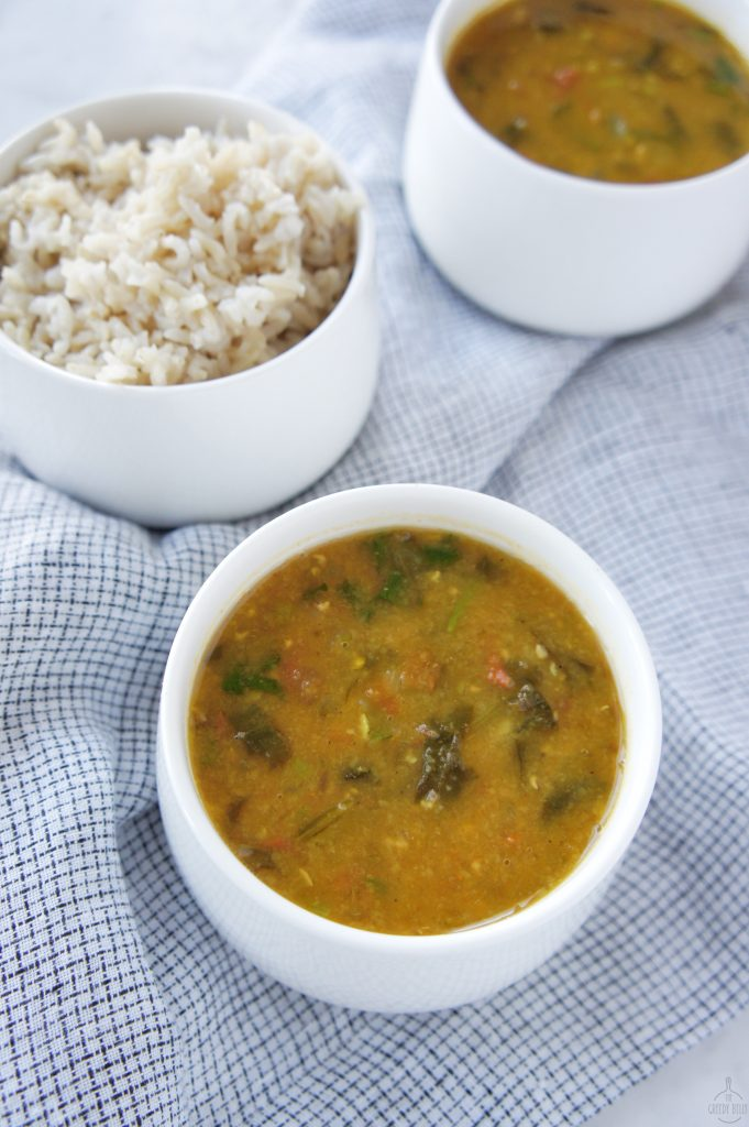 Red Lentil Dal with rice