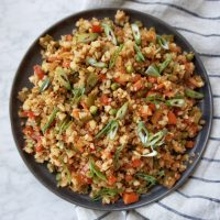 Cauliflower Fried Rice recipe card