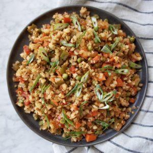 Cauliflower Fried Rice recipe card