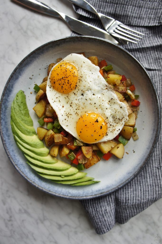 healthy breakfast hash the greedy belly only 238 calories